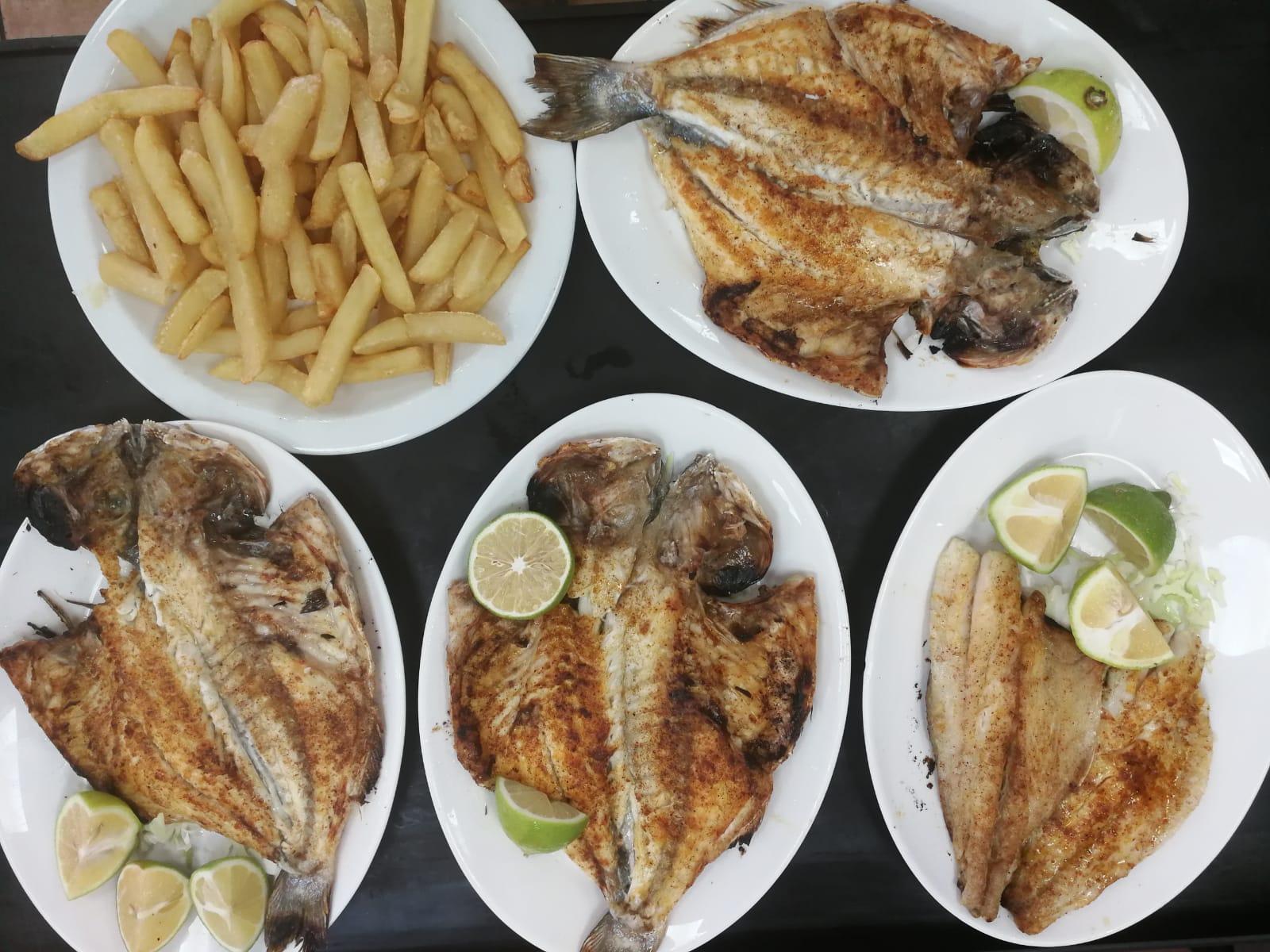 דג דניס או לברק על האש מסעדת אבו יוסף חיפה